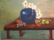 Peaches Originals - Blue Vase by Arlen Avernian Thorensen