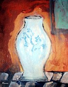 Modernism Mixed Media - Blue Vase by Venus
