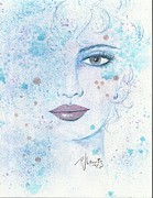 Pretty Drawings Originals - Blue Violet by P J Lewis