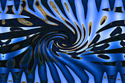Abstracted Photo Framed Prints - Blue Vortex Framed Print by Gary Holmes