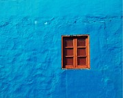 Street Photography Pastels - Blue Wall by Gustavo Garcia