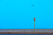 Blue Wall Parking Print by Darryl Dalton