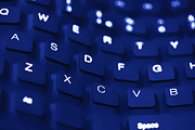 Simon Bratt Photography - Blue warped keyboard...