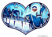 Barack Drawings Prints - Blue Water Barack Print by Alexis Heath