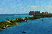 Bahamas Posters - Blue Water Poster by Kathy Jennings