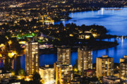 Night Scenes Photo Originals - Blue Water Kitsilano Beach MCDIX by Amyn Nasser