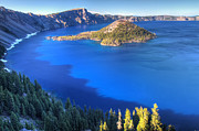 Wizard Art - Blue water of Crater Lake Oregon by Pierre Leclerc