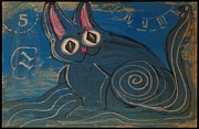 Teca Burq-Art - Blue Wave Kitty