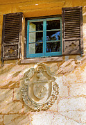 Spanish House Prints - Blue Window and Medallion DB Print by Rich Franco
