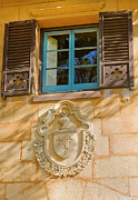 Spanish House Prints - Blue Window and Medallion Print by Rich Franco