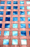 Levels Prints - Blue Windows Print by Valentino Visentini