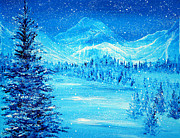 England Art - Blue Winter by Ann Marie Bone