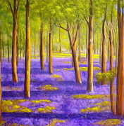 Bluebell Wood Print by Heather Matthews