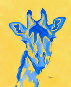 Wild Animals Paintings - Bluebelle by Rhonda Leonard