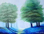 Bluebells Paintings - Bluebells by Carola Ann-Margret Forsberg