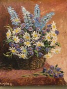 Bluebells Paintings - Bluebells by Stanislav Zhejbal