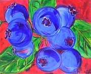 Tammany Paintings - Blueberries by Mary DeSilva