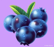 Featured Art - Blueberries by Robin Moline