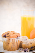 Orange Juice Prints - Blueberry Muffins Print by Christopher and Amanda Elwell