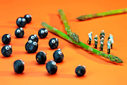 Macro Digital Art Framed Prints - Blueberry protesting Framed Print by Mingqi Ge