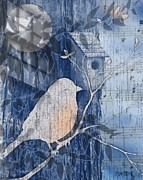 Sharon Marcella Marston - Bluebird Collage