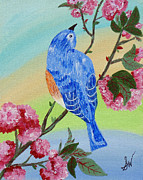 Stephanie Wingard - Bluebird Pink Flowers