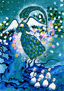 Night Angel Paintings - Bluebird by T Koni