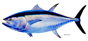 Wahoo Painting Prints - Bluefin tuna Print by Carey Chen