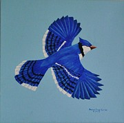 Bluejay Painting Metal Prints - Bluejay Metal Print by Donna Jean Carver