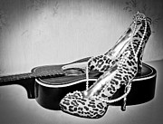 High Heeled Prints - Blues Diva 4 Print by EG Kight
