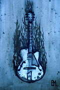 Pete Maier Metal Prints - Blues Guitar Metal Print by Pete Maier