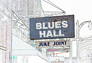 Blues Joint Posters - Blues Hall Juke Joint Poster by Liz Leyden