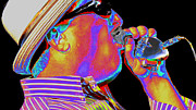Band Digital Art - Blues Harp by Kae Cheatham