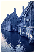 European Cities Prints - Blues in Bruges Print by Carol Groenen