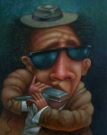 Larry Paintings - Blues In Hand 2001 by Larry Preston