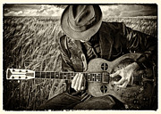 Cornfield Photos - Blues Man by Julian Eales