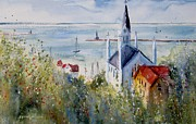 Northern Michigan Paintings - Bluff View St. Annes Mackinac Island by Sandra Strohschein