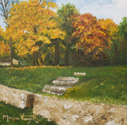 Monica Veraguth Art - Bluffside in Autumn by Monica Veraguth