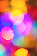New Years Prints - Blurred lights abstract Print by Elena Elisseeva