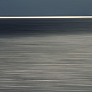 Water Line Photos - Blurred sea by Bernard Jaubert