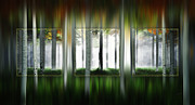 Panorama Digital Art Originals - Blurring The Lines by John Robichaud