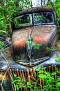 Rusted Cars Prints - Blurry Eyed- Auto Personalities #1 Print by Dan Stone