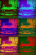 Concept Cars Prints - BMW 2002 Front Pop Art 1 Print by Irina  March