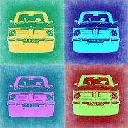 Bmw Prints - BMW 2002 Pop Art 1 Print by Irina  March