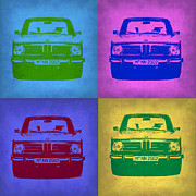 Classic Cars Digital Art Framed Prints - BMW 2002 Pop Art 3 Framed Print by Irina  March