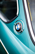 Motor Metal Prints - BMW 3.0 CS Closeup Curves Metal Print by Mike Reid