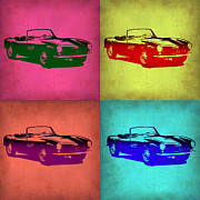 German Classic Cars Prints - BMW 507 Pop Art 1 Print by Irina  March