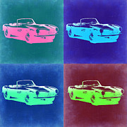 Bmw Digital Art Framed Prints - BMW 507 Pop Art 2 Framed Print by Irina  March