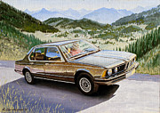 Alps Drawings - Bmw E23 by Rimzil Galimzyanov