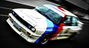 Motography Posters - BMW E30 M3 Racer Poster by Phil
